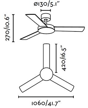 FARO 33604 schéma - stropní ventilátor bez světla