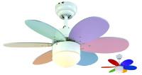 Domácí stropní ventilátor značky Sulion Rainbow Colour 075165