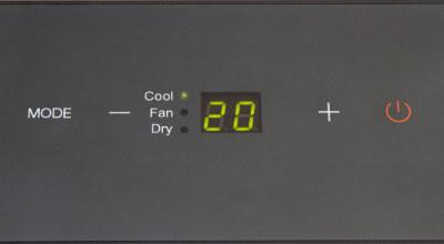 detail na ovládácí panel mobilní klimatizace Trotec PAC 2300 X s těsněním AirLock