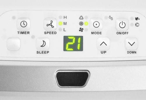 detail na ovládací panel mobilní klimatizace PAC 3200 E A +