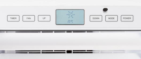 Mobilní klimatizace Trotec PAC 3500 E detail na ovládací panel