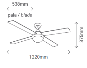 Schéma stropní ventilátor se světlem Sulion 075005 Cross CH
