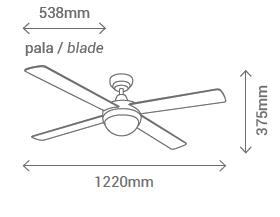 Schéma stropní ventilátor Sulion 075006 Cross WH