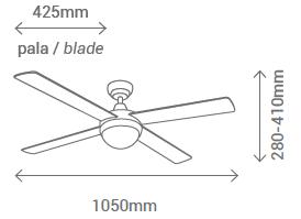 Schéma stropního ventilátoru Sulion 075661 NAIF