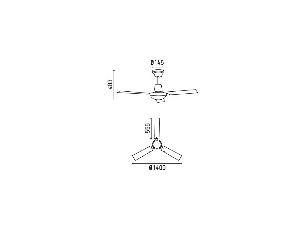 Schéma stropní ventilátor faro 33002 indus