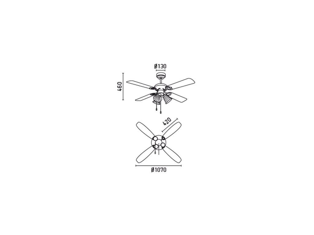 Schéma stropní ventilátor faro 33102 lisboa