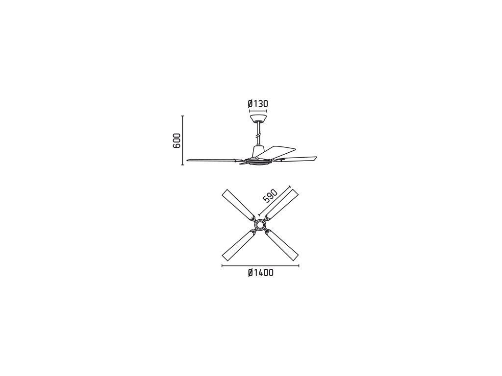 Schéma stropní ventilátor faro 33110 malvinas
