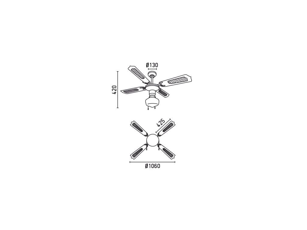 Schéma stropní ventilátor faro 33121 aruba
