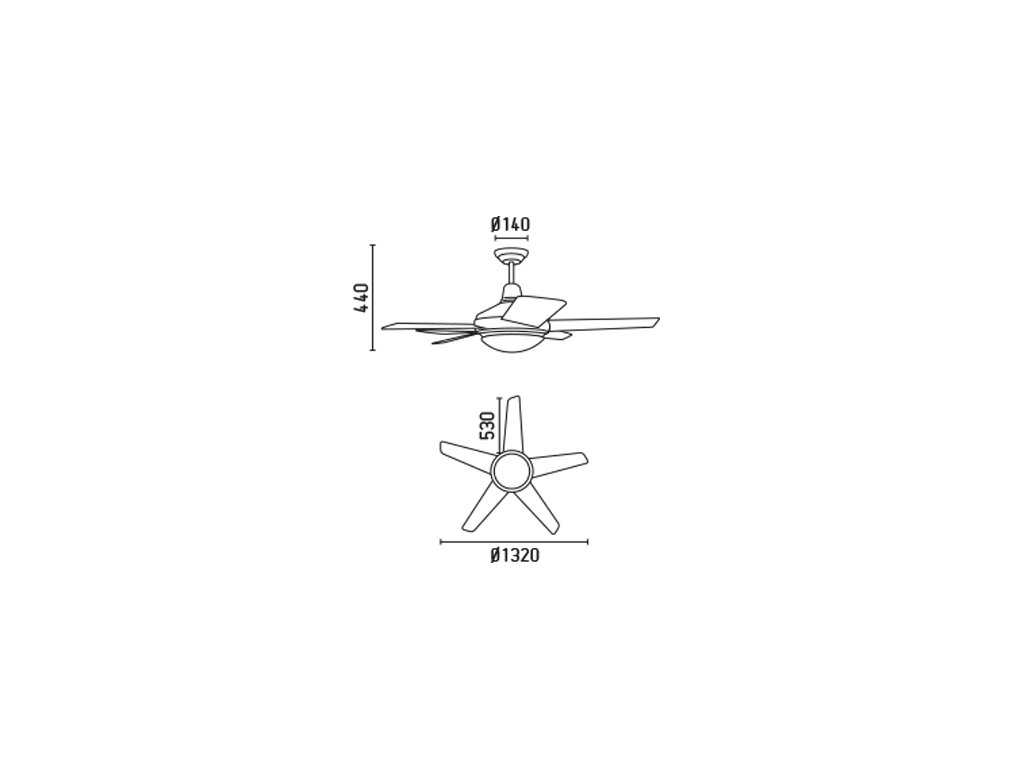 Schéma stropní ventilátor faro 33135 ovni