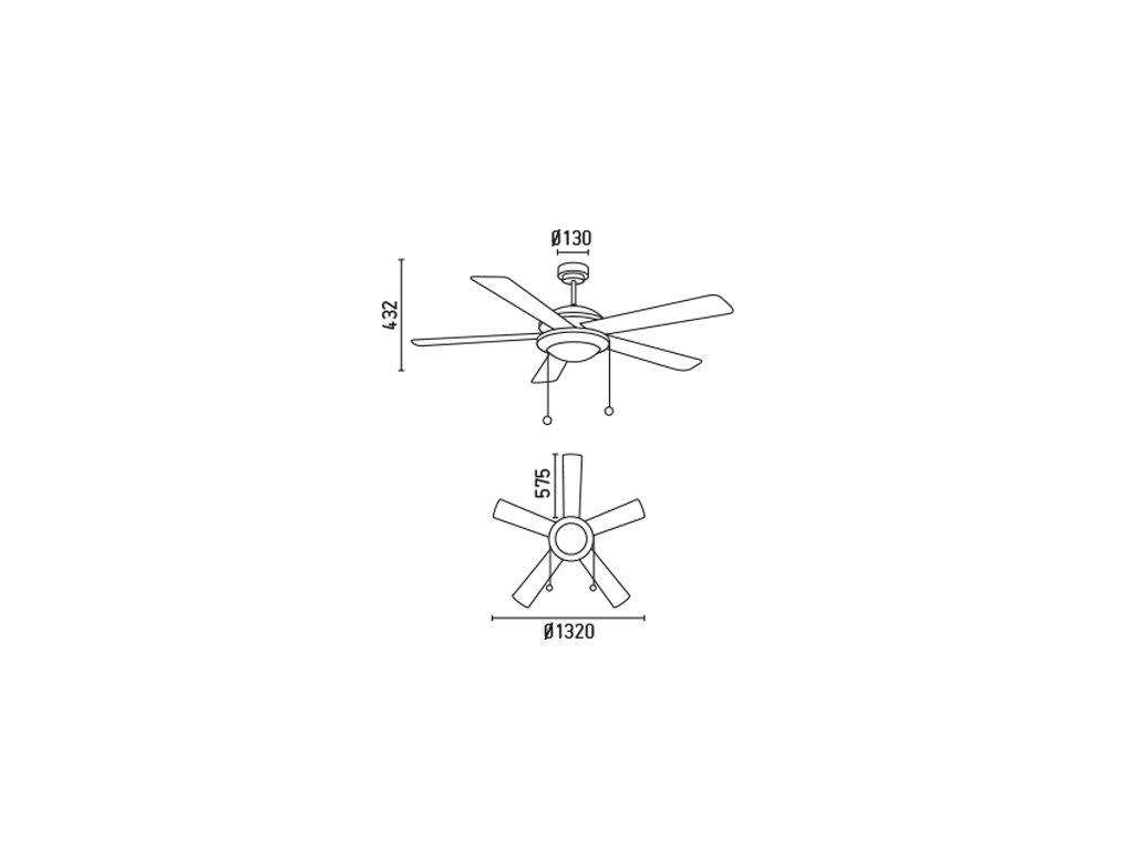 Schéma stropní ventilátor faro 33192 manila