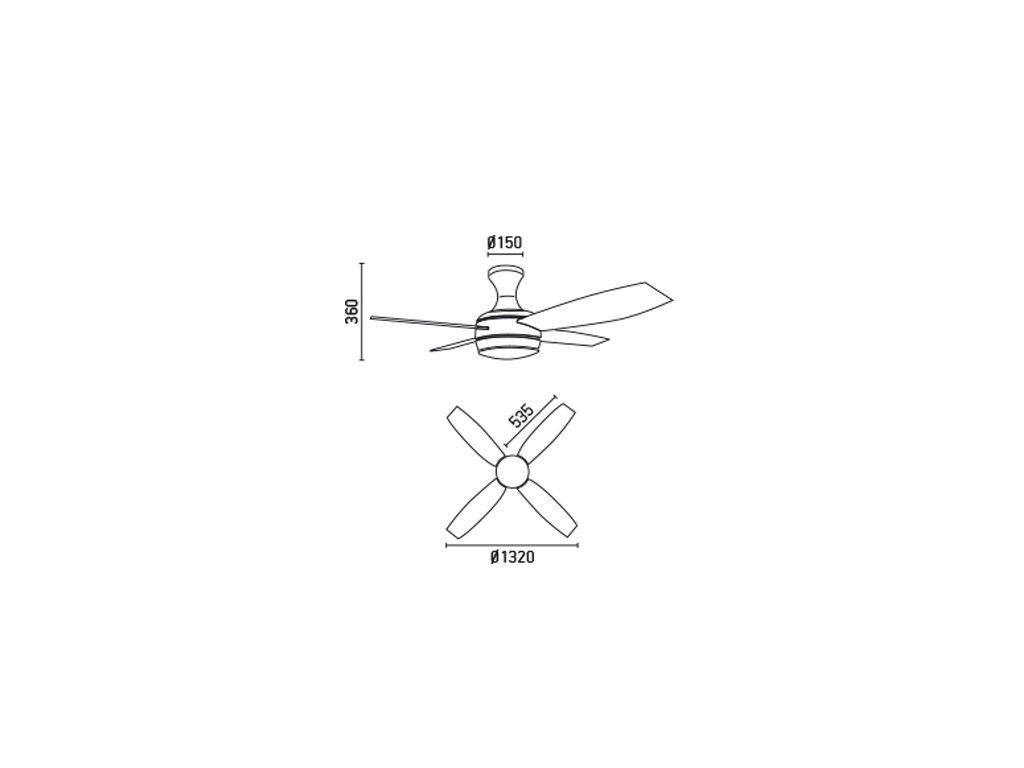 Schéma stropní ventilátor faro 33259 ufo-4