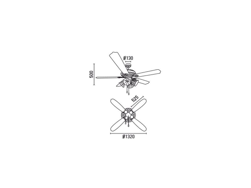 Schéma stropní ventilátor faro 33274 corso