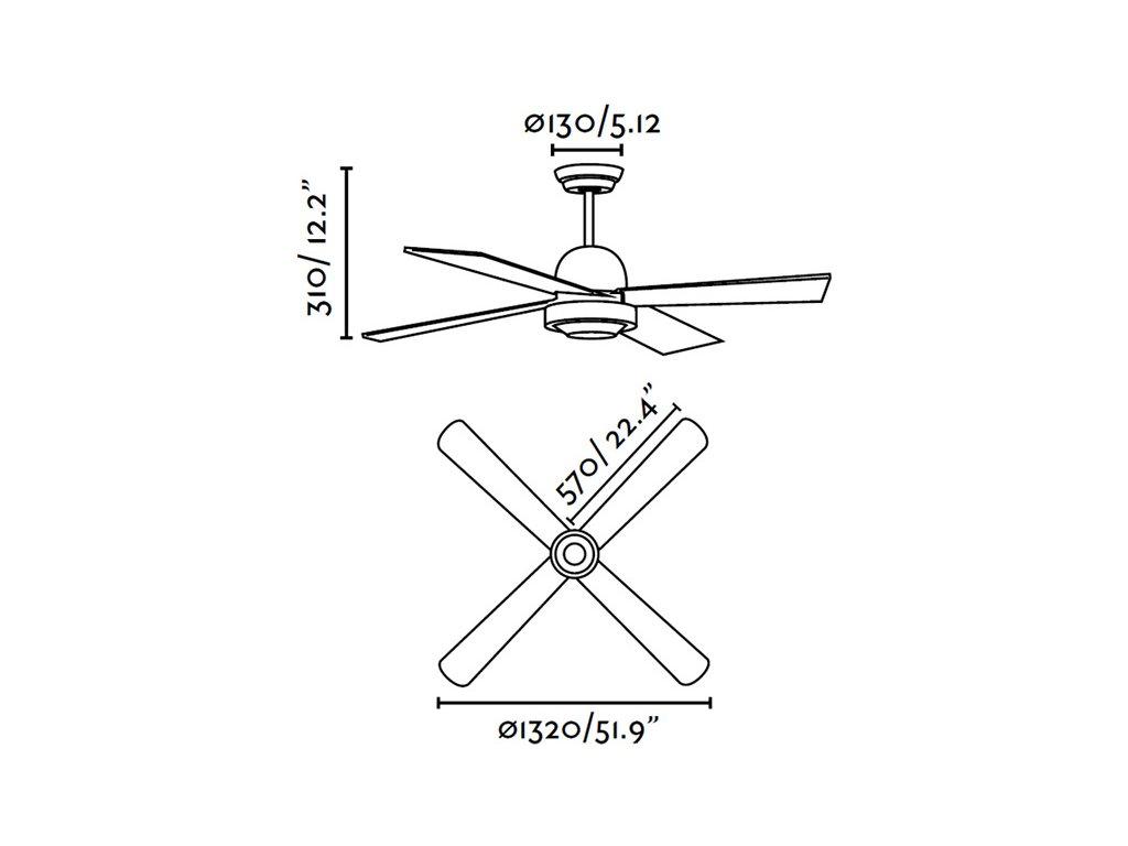 Schéma stropní ventilátor faro 33284 ibiza
