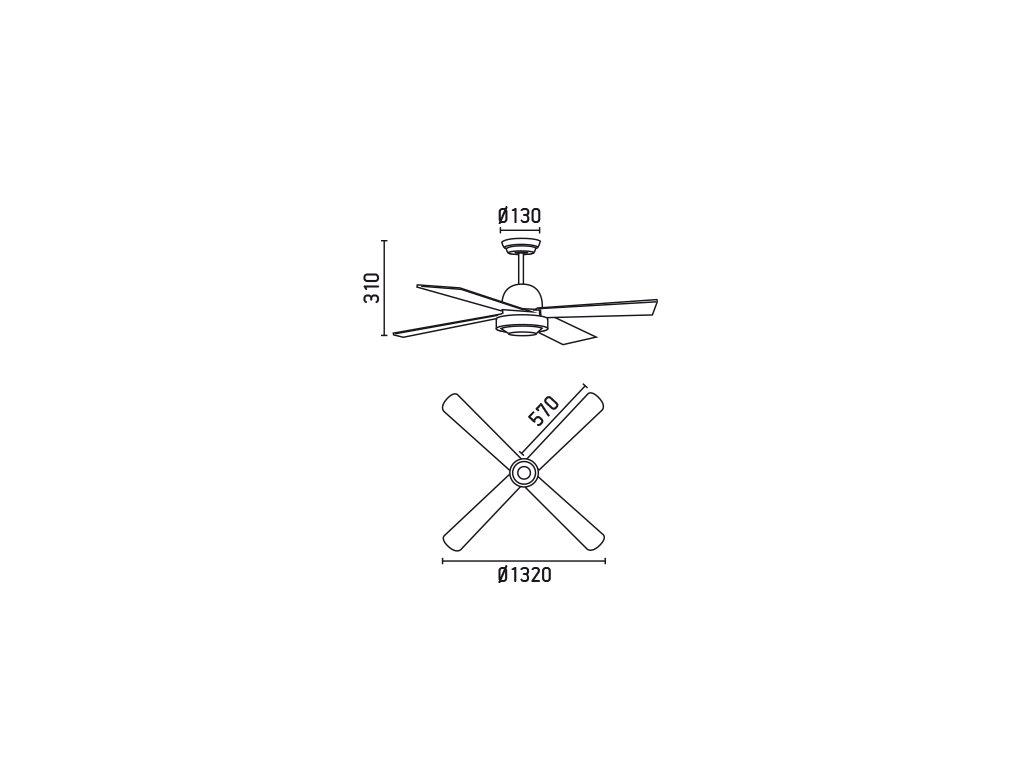 Schéma stropní ventilátor faro 33288 ibiza