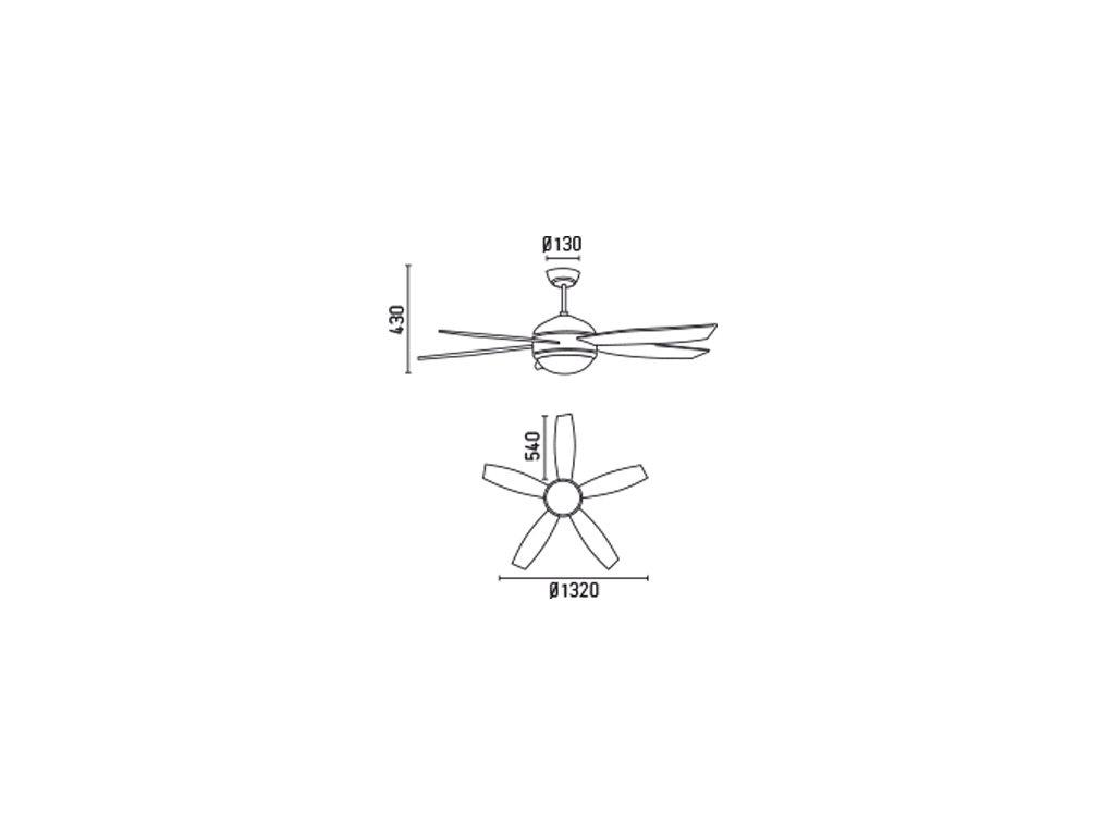 Schéma stropní ventilátor faro 33313 vanu