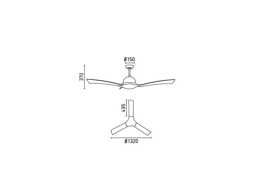 Schéma stropní ventilátor faro 33317 lakki