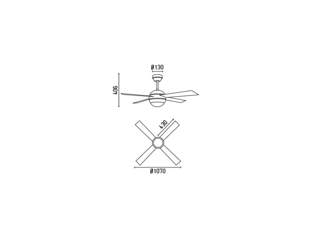 Schéma stropní ventilátor faro 33347 honolulu