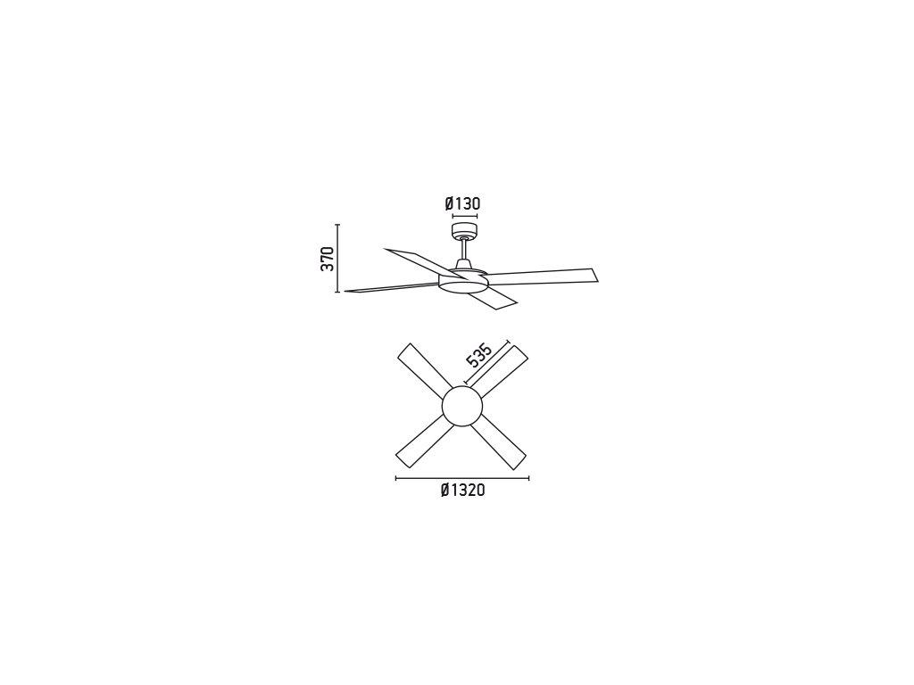 Schéma stropní ventilátor faro 33350 mallorca
