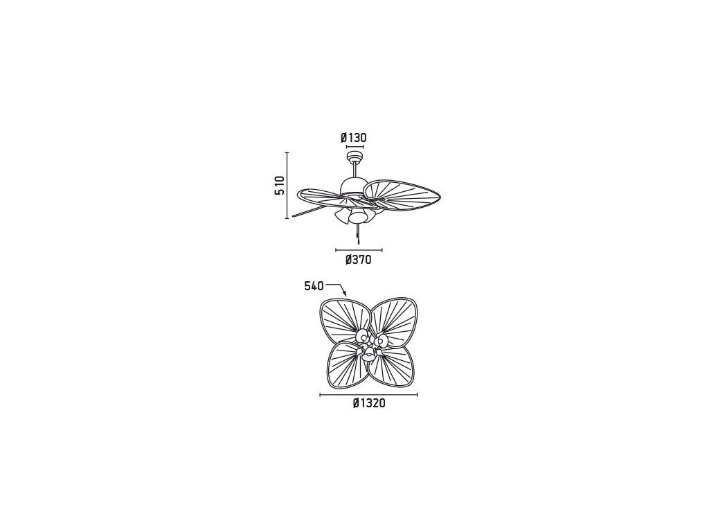 Schéma stropní ventilátor faro 33352 cuba