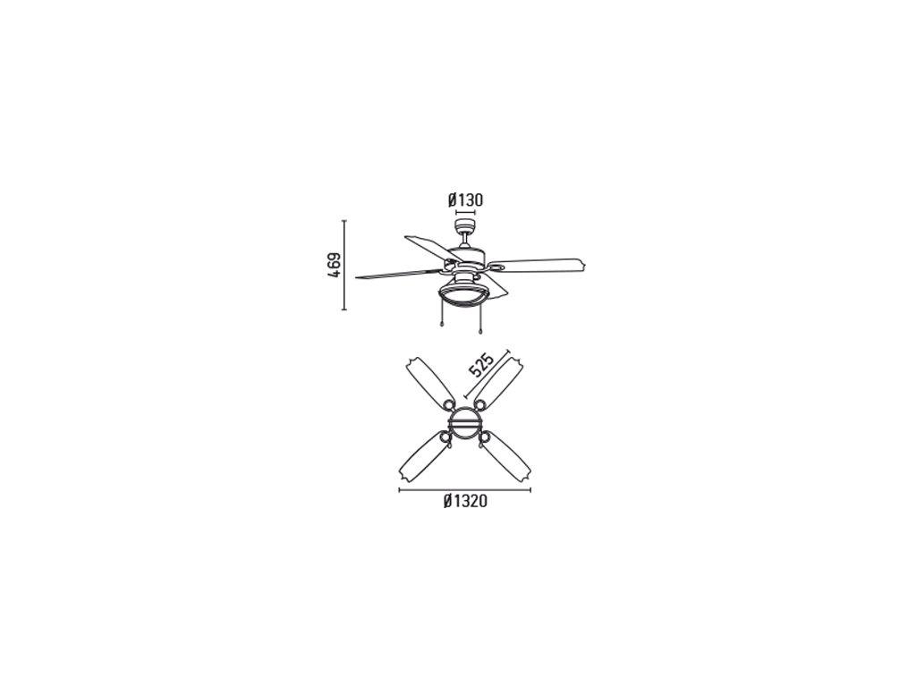 Schéma stropní ventilátor faro 33357 hierro