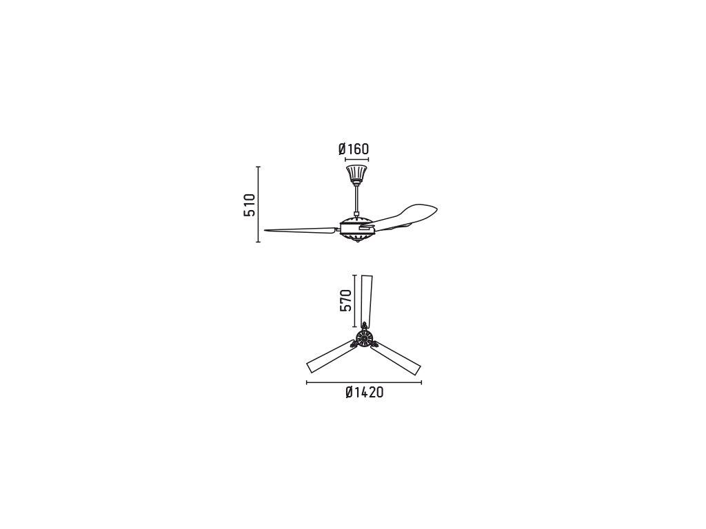 Schéma stropní ventilátor faro 33366 aoba