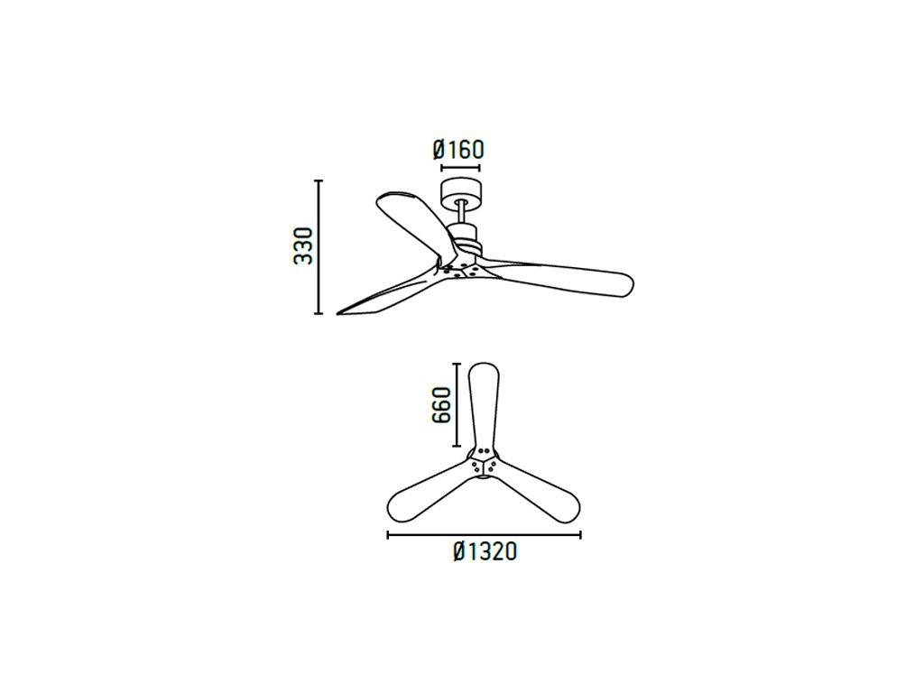 Schéma stropní ventilátor faro 33370 lantau