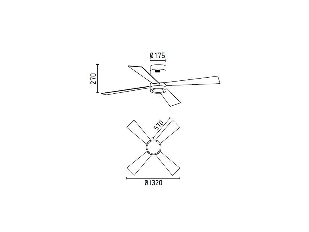 Schéma stropní ventilátor faro 33372 timor