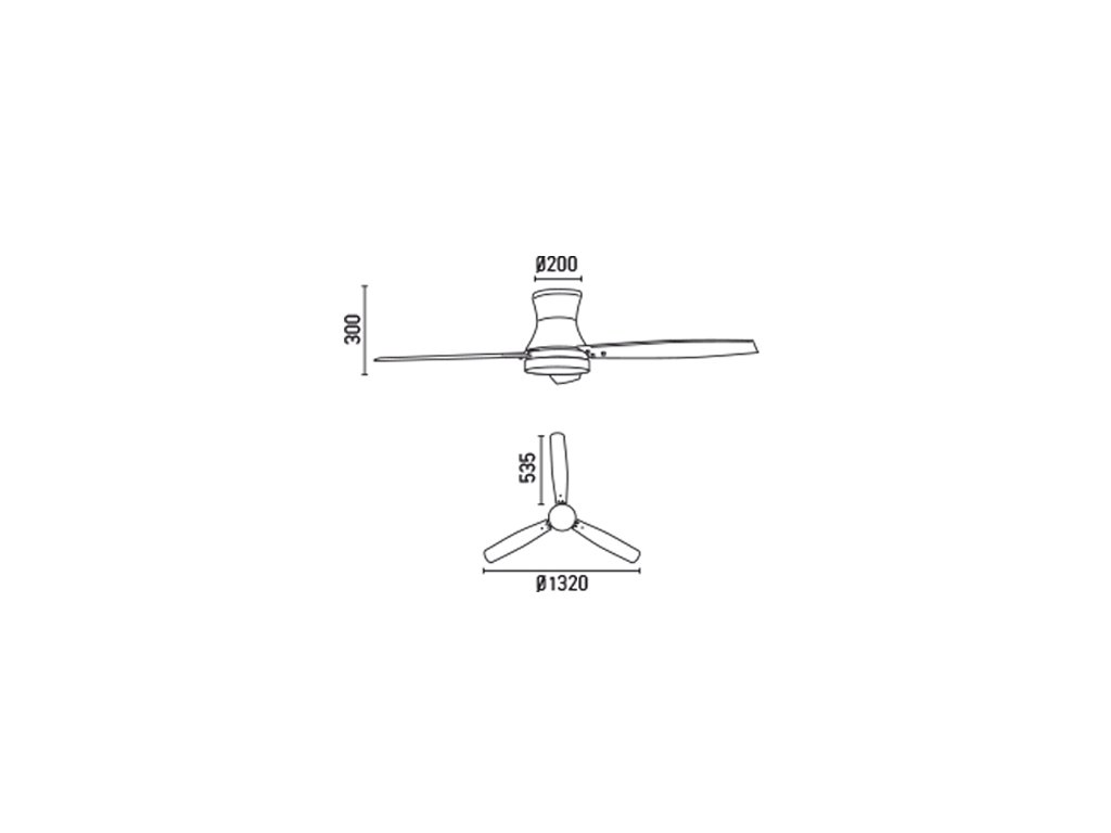 Schéma stropní ventilátor faro 33384 tonsay