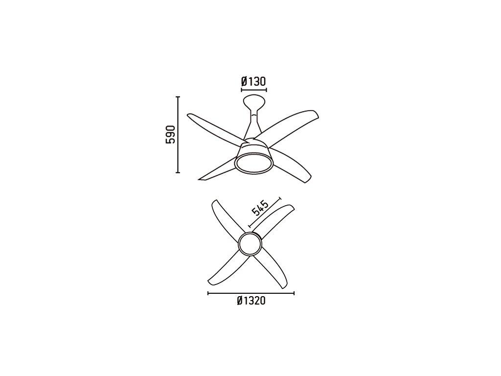 Schéma stropní ventilátor faro 33392 wind