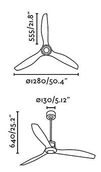 Schéma stropní ventilátor faro 33395 just fan