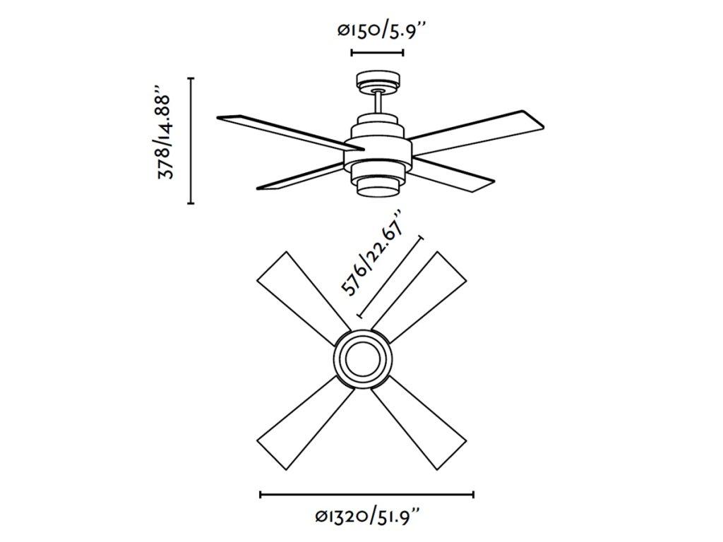 Schéma stropní ventilátor faro 33397 disc
