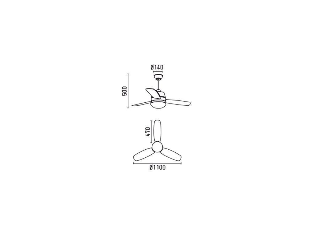 Schéma stropní ventilátor faro 33407 maui