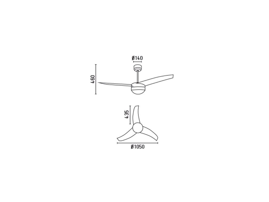 Schéma stropní ventilátor faro 33415 easy