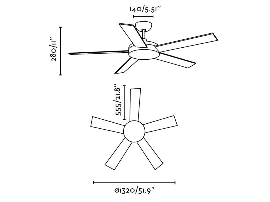 Schéma stropní ventilátor faro 33420 nova