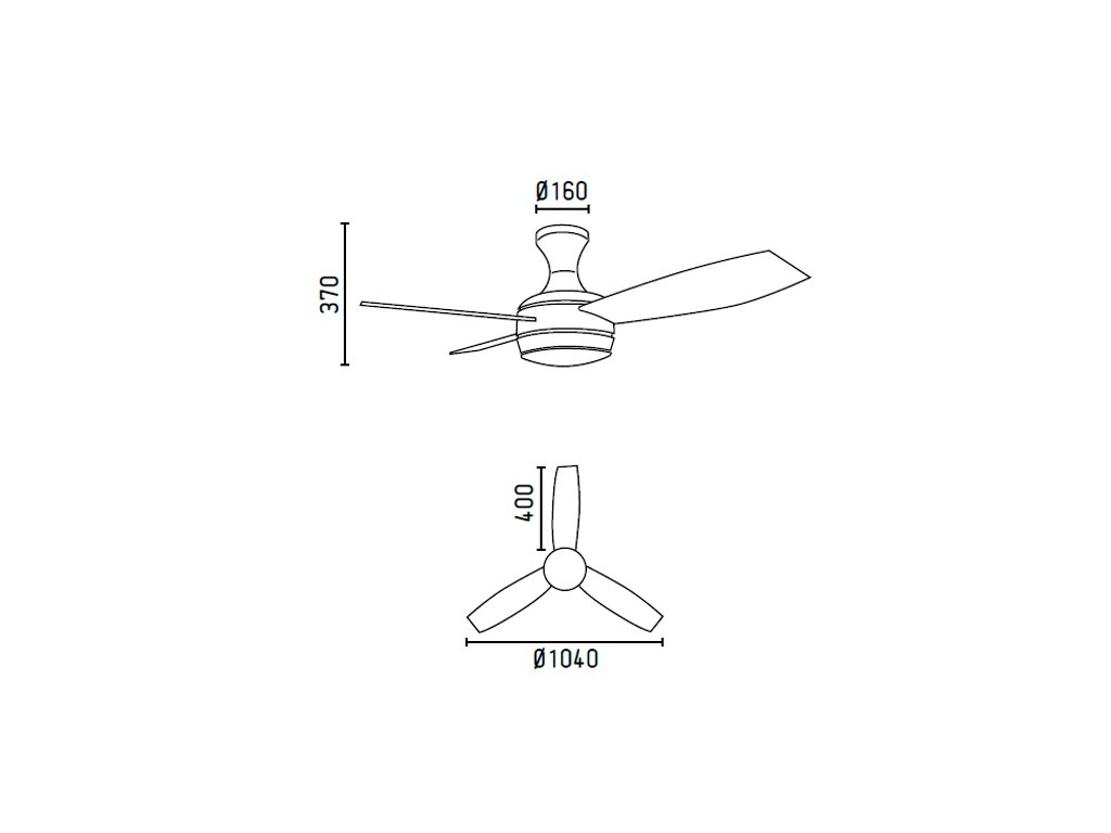 Schéma stropní ventilátor faro 33455 mini-ufo