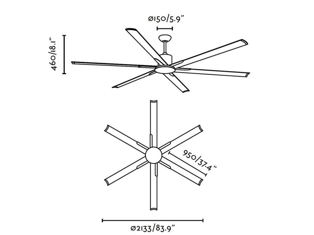 Schéma stropní ventilátor faro 33462 andros