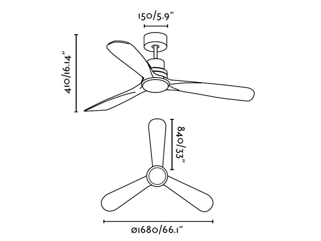 Schéma stropní ventilátor faro 33463 lantau-g