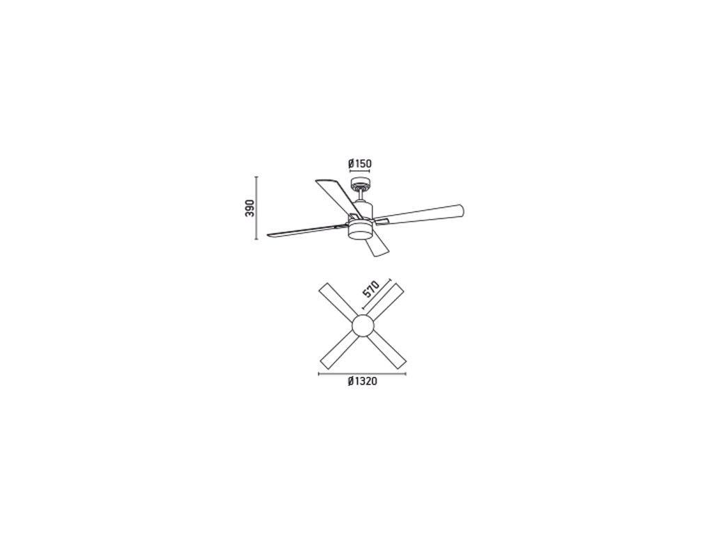 Schéma stropní ventilátor faro 33470 palk