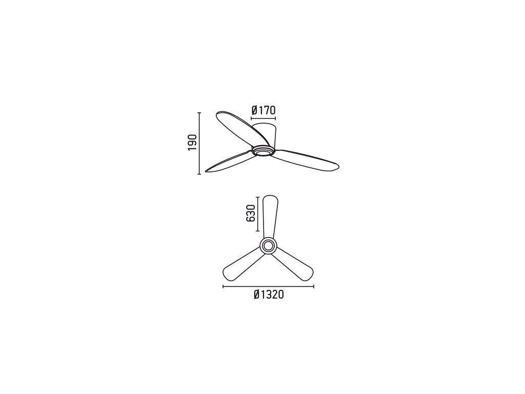 Schéma stropní ventilátor faro 33472 nias