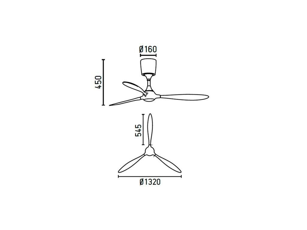 Schéma stropní ventilátor faro 33474 itaca