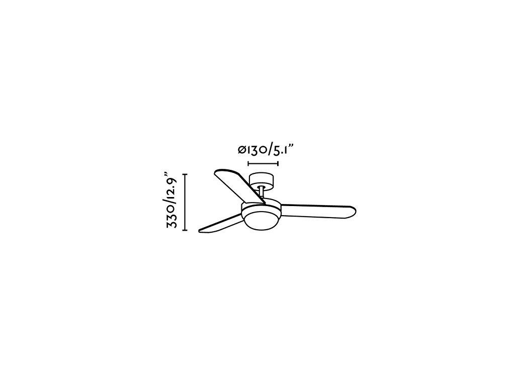 Schéma stropní ventilátor faro 33601 feroe
