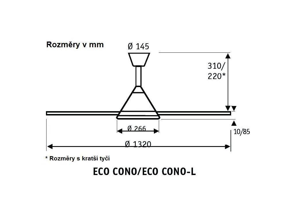Schéma stropní ventilátor casafan 413236 ecocono-l