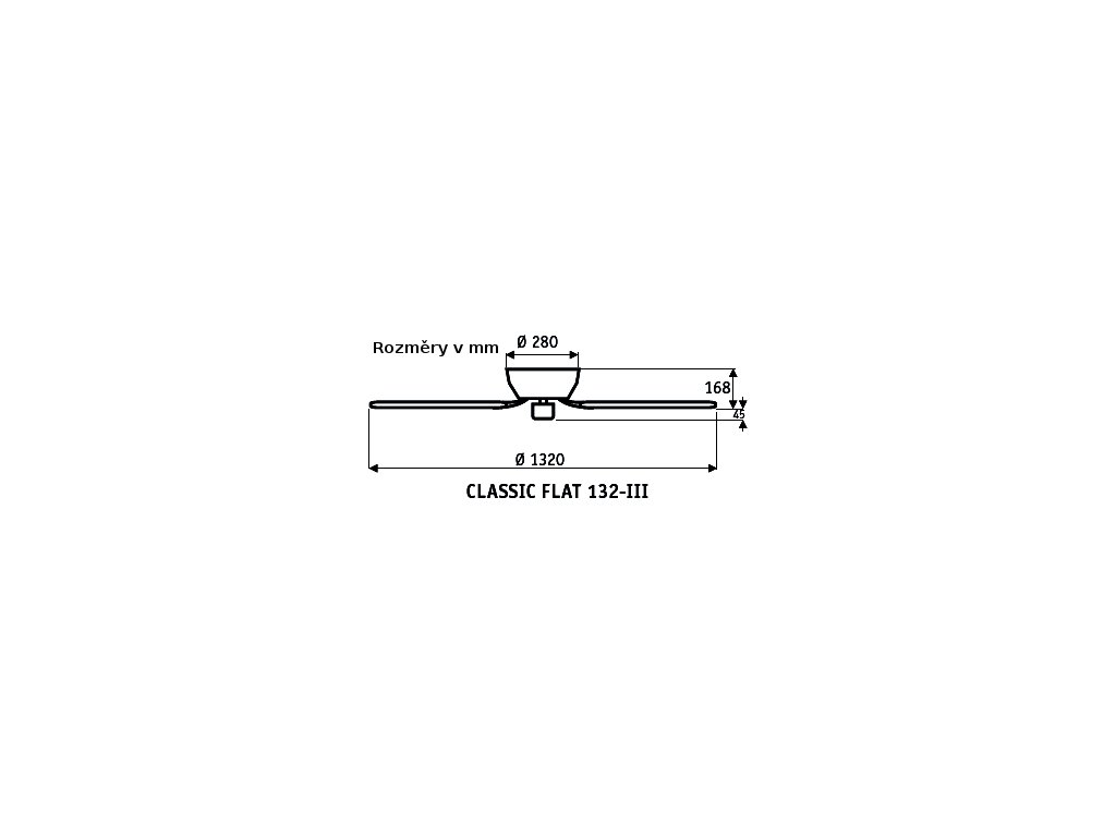 Schéma stropní ventilátor casafan 5103051 classicflat