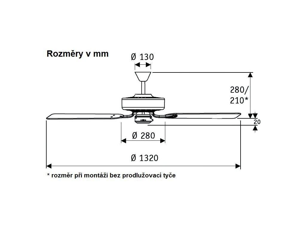 Schéma stropní ventilátor casafan 513203 classicroyal