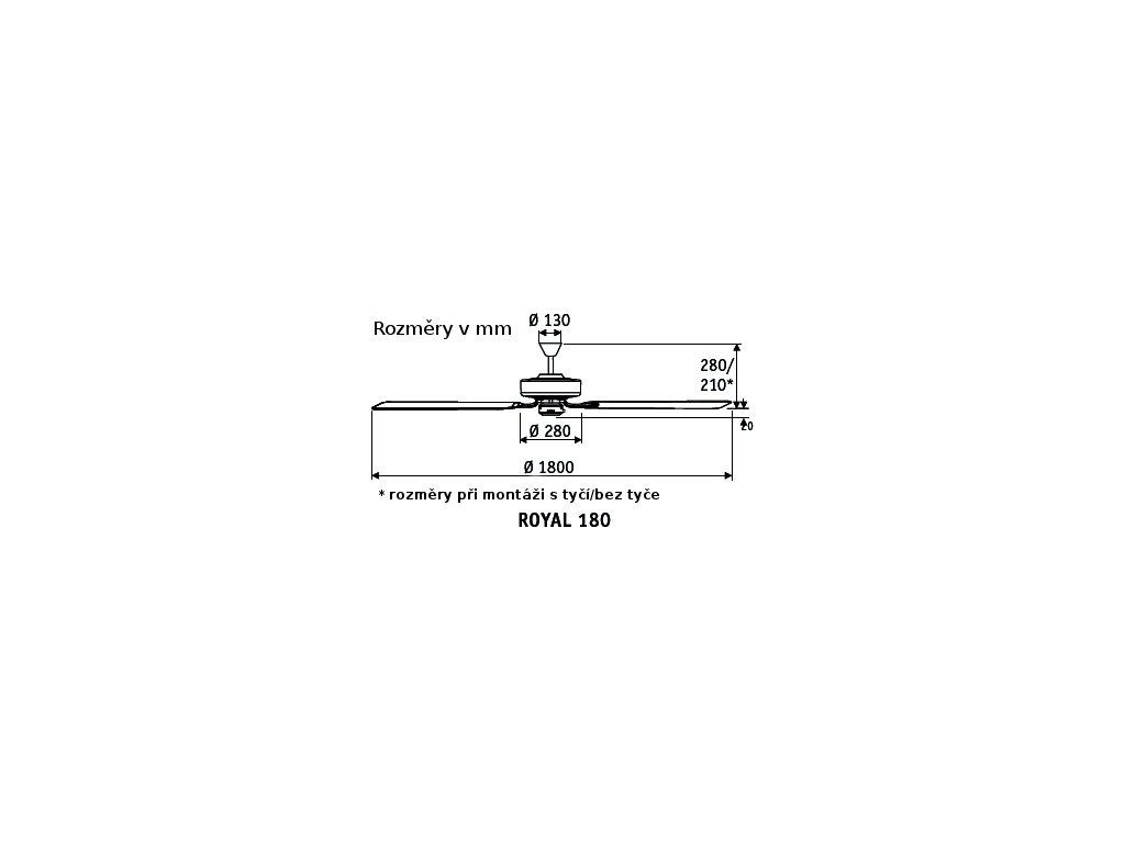 Schéma stropní ventilátor casafan 518003 classicroyal
