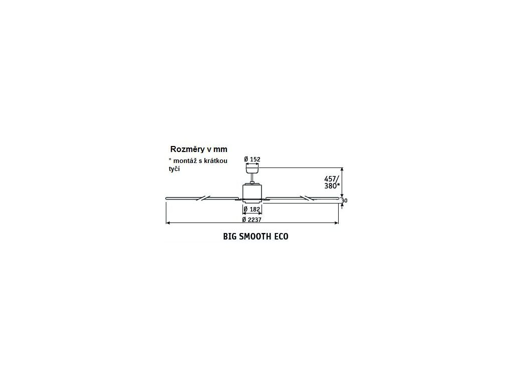 Schéma stropní ventilátor casafan 922012 bigsmootheco