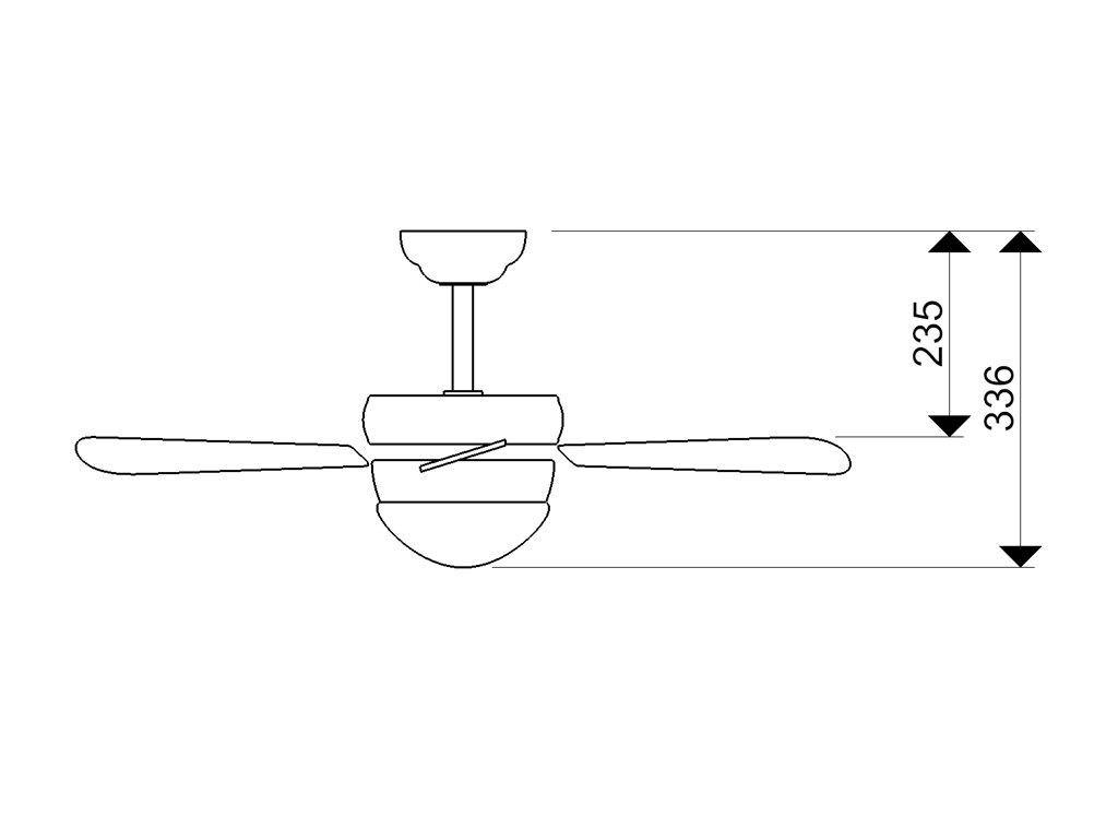 Schéma stropní ventilátor aireryder fn43336 classic