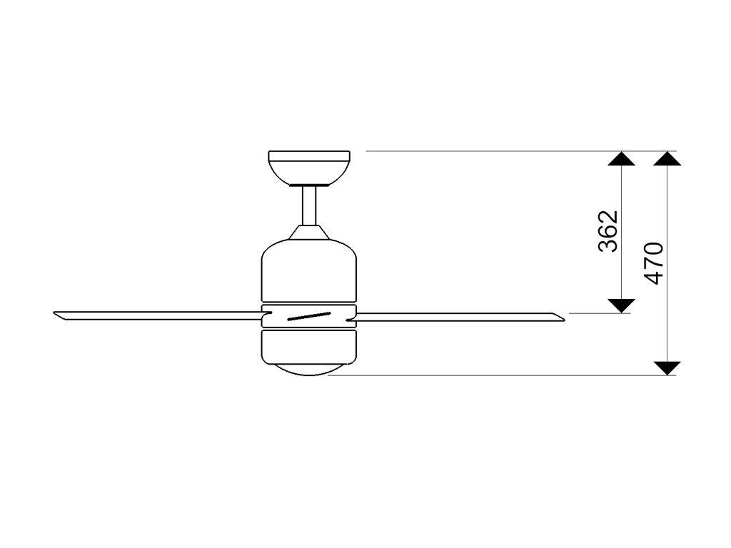 Schéma stropní ventilátor aireryder fn51133 loft