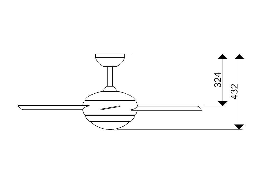 Schéma stropní ventilátor aireryder fn52217 fresco