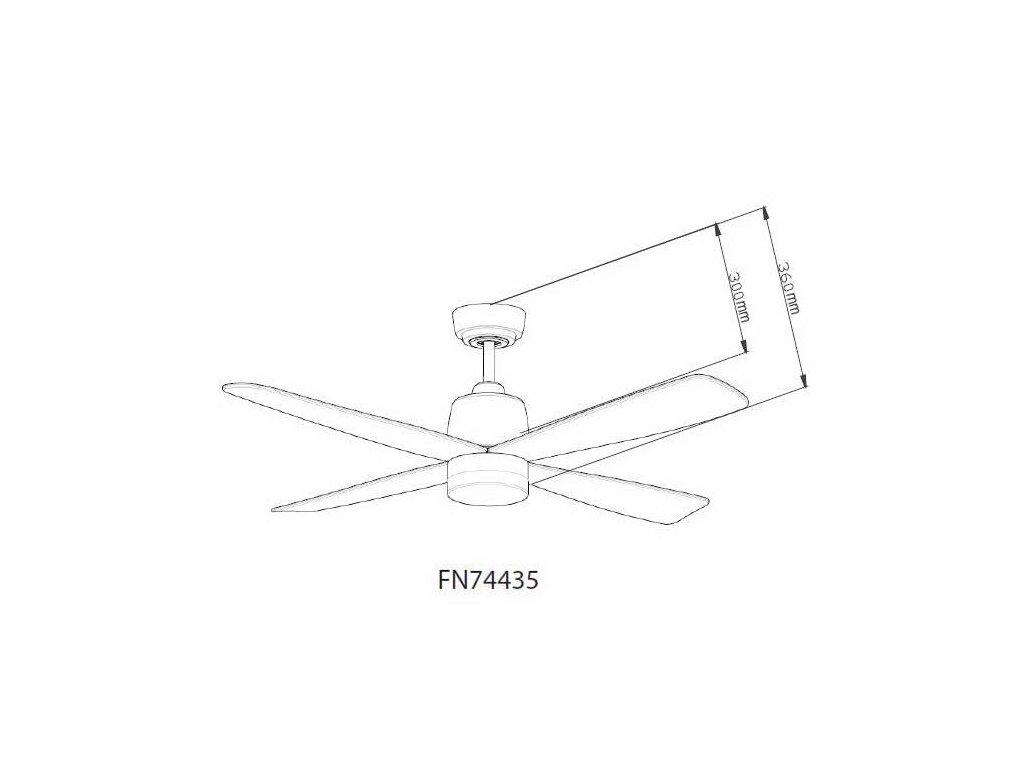 Schéma stropní ventilátor aireryder fn74435 stratus